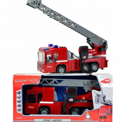 Dickie Straż pożarna Fire Hero wóz strażacki 43cm walkie