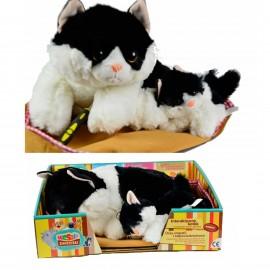 Madej interaktywny kot czarny +koty reaguje dotyk
