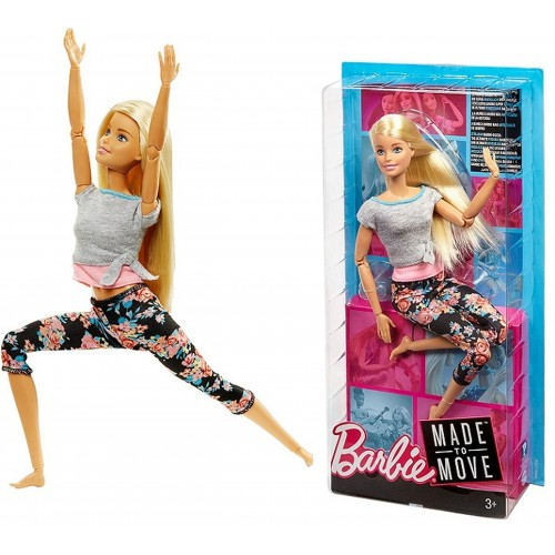 BARBIE MADE TO MOVE RUCHOMA ELEMENTY LALKA FITNESS