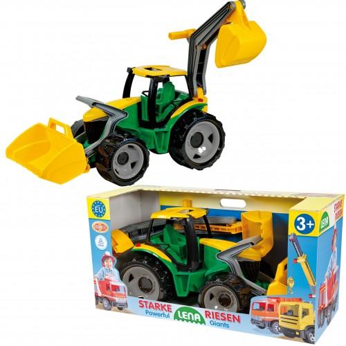 LENA Mega Traktor + Spych + Koparka 104 cm Zielono Żółta SFERA