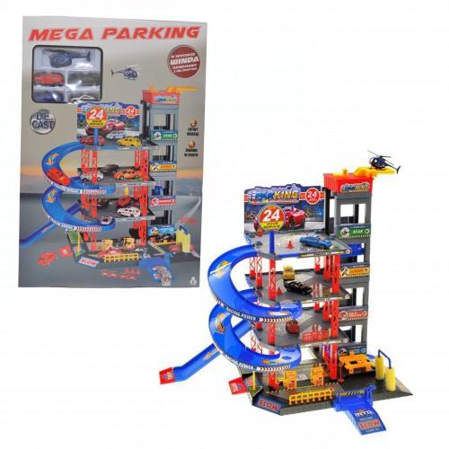 Duży Parking Garaż wielopoziomowy Tor Winda 4 Autka