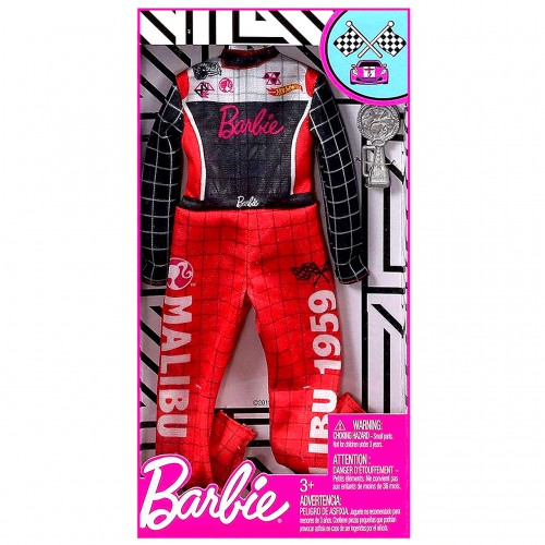 Barbie kariera ubranka strój kierowcy wyścigowego