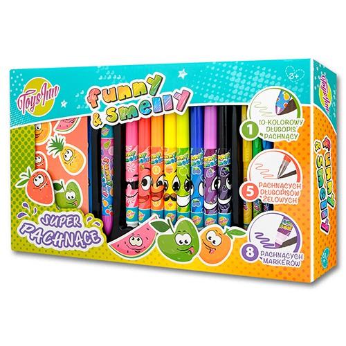Zestaw pachnących markerów długopisów+ naklejki kreatywne kolorowanie