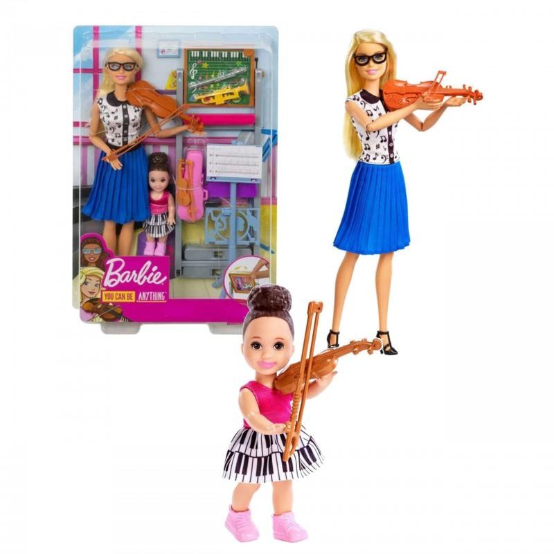 Mattel Lalka Barbie Nauczycielka Muzyki + Uczennica