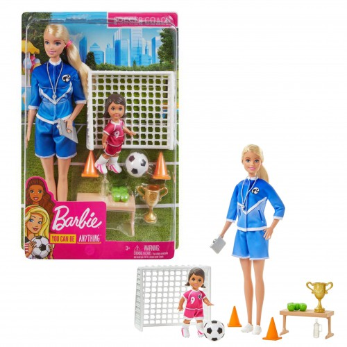 Mattel Barbie zestaw lalka trenerka piłki nożnej
