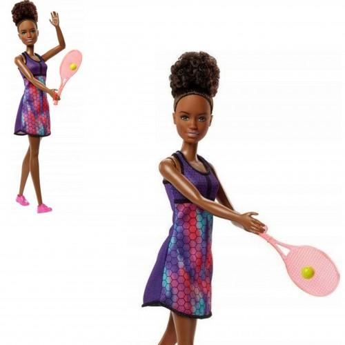 Lalka Barbie tenisistka FJB11 rakieta z piłeczką Barbie kariera