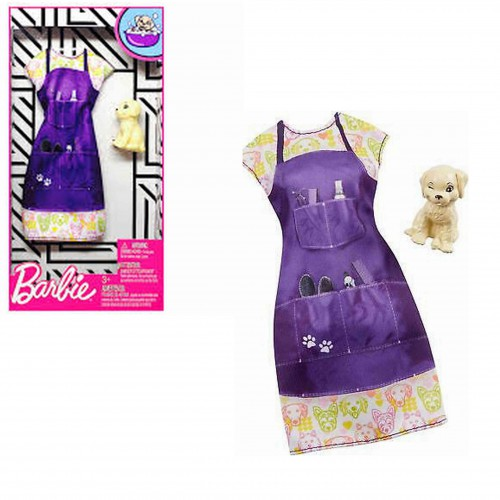 Ubranko dla lalki Barbie sukienka Mattel + piesek