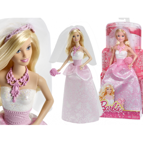 Mattel Lalka Barbie Panna Młoda Suknia Ślubna
