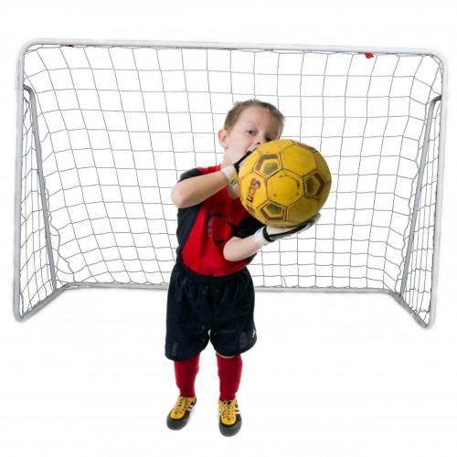 Duża bramka piłkarska metalowa z siatka do piłku nożnej