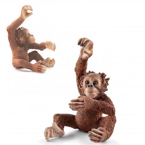 Schleich 14776 młode orangutana figurka małpki