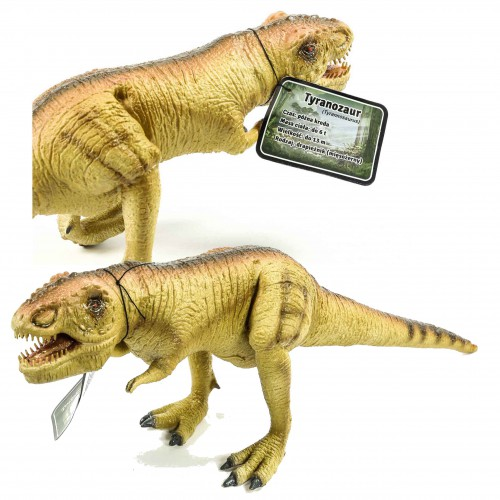 Dinozaur tyranozaur figurka gumowa 50 cm malowana sfera