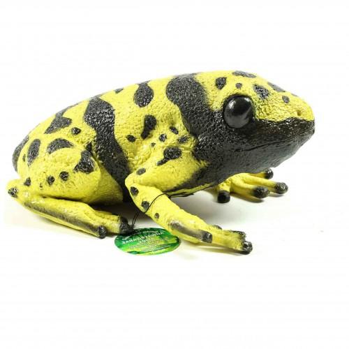 Duża żaba drzewna figurka miękka 25 cm płaz