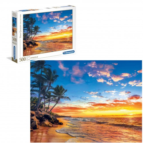 Puzzle 500 elementów paradise beach plaża raj 35058
