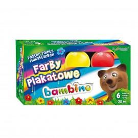 Farby plakatowe Bambino szkolne 6 kolorów