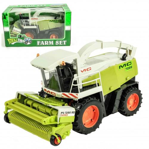 Duży KOMBAJN  zbożowy Ruchome Elementy Napęd Traktor