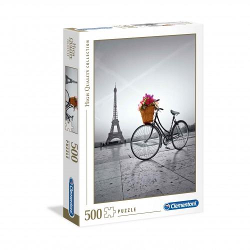 Puzzle 500 elementów Paryż wieża Eiffla z rowerem - układanka