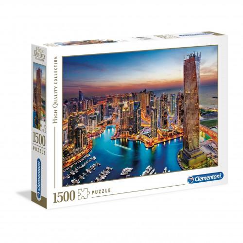Puzzle 1500 elementów Dubaj przystań i wieżowce - układanka