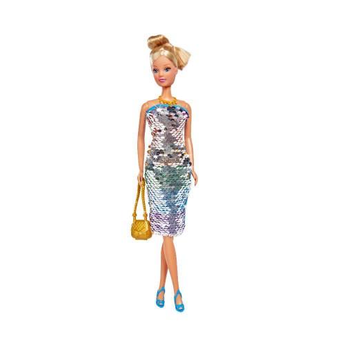 Lalka Steffi Swap Deluxe w sukience z cekinami szpilki Steffi od Simby