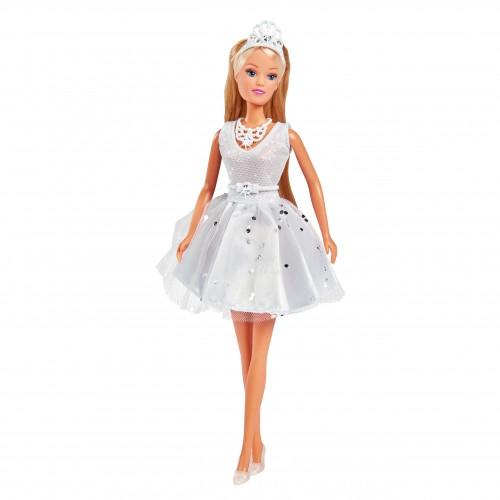 Lalka Steffi suknia ślubna kryształy Swarovski