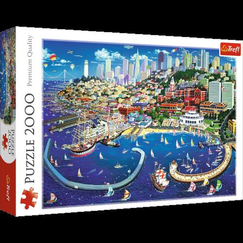 Puzzle 2000 San Francisco rysunek układanka