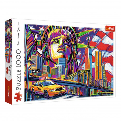 Puzzle 1000 kolory Nowego Jorku układanka