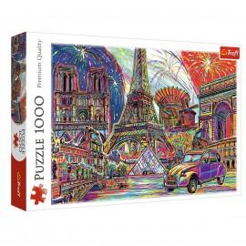 Puzzle 1000 kolory Paryża układanka