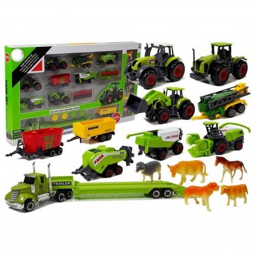 Duży Zestaw Pojazdów Rolniczych traktor ciągnik