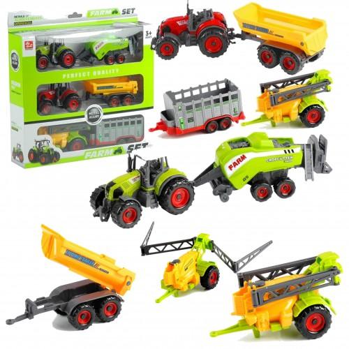 Ciągnik Traktor maszyny rolnicze 6w1 zestaw farmera