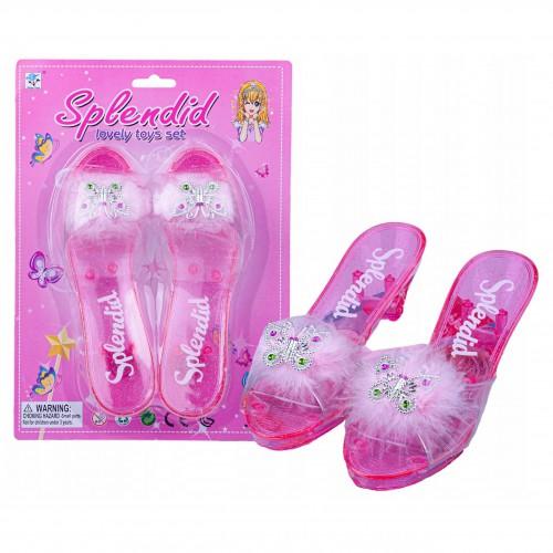 Pantofelki buciki lodowej księżniczki z piórkami