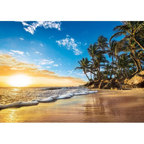 Puzzle 1500 plaża tropikalna słońce na plaży palmy