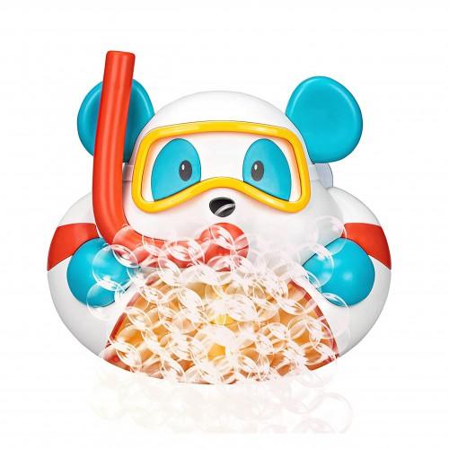 Miś maszynka do robienia bąbelek piany w wannie kąpieli
