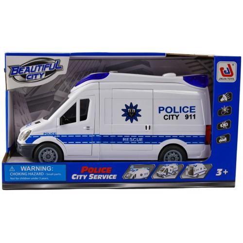 DUŻA AUTO POLICJA Światła Dźwięk