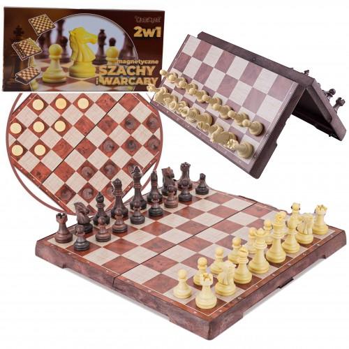 Gra szachy warcaby magnetyczne klasyczne magnes