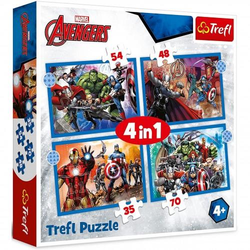 Puzzle 4w1  Odważni Avengersi