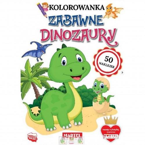 Kolorowanka Zabawne dinozaury 50 naklejek